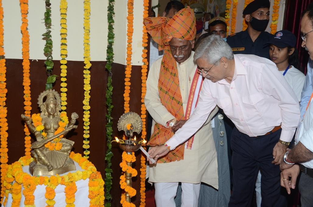 """Hon'ble Chancellor visited at IGU on """"Aazadi ka Amrit Mahotsav"""""""